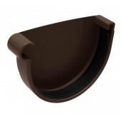 Заглушка левая Инсталпласт D125 коричневый