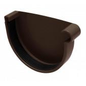 Заглушка правая Инсталпласт D125 коричневый