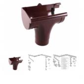 Воронка левая PROFIL D90 коричневая