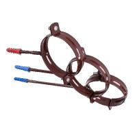 Хомут труби металлический PROFIL з дюбелем L160 130 коричневый
